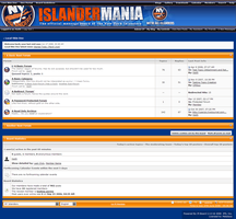 Islanders Forum Skin by MetalFrog