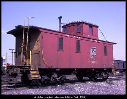 Arch-bar trucked caboose by classictrains