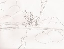 Skydiving Pinkie Pie by Birdco
