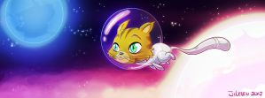 Space cat by red-monkey