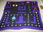 crochet pacman blanket by SunsetSovereign