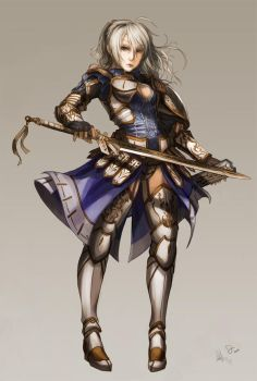 Female Warrior Fate by juuhanna
