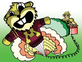 Caddy Pete- Bombing the Gopher by OrionTheMuse