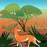 Ethiopian Wolf by oxboxer