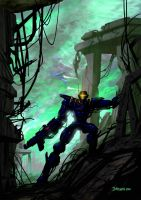 ROBO SCOUT concept painting by m1llgato5