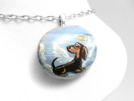Dachshund Pendant Necklace / Sold by sobeyondthis