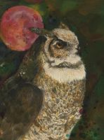 - The Great Horned Owl - by enehsalome