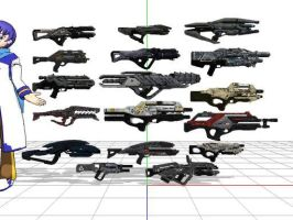 Mass effect 3 assault rifles + DL by sky-commander