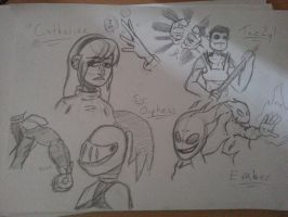 E.G. Character sketches (1) by Weaponized-Wafflez