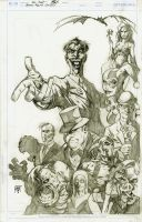 Batman: Rogues Gallery Pencils by KenHunt