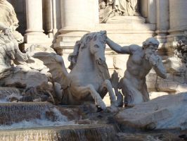 Hippocamp of Trevi Fountain by LadyScale