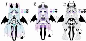 pastel goth demon adoptable batch CLOSED by AS-Adoptables