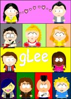 GLEE - South Park style by FakemonPeter