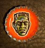 Bottle Cap Monster - Frankie by Mr-Mordacious