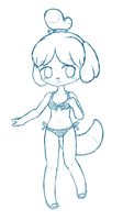 Isabelle Sketch by Primmly