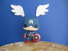 Captain America Wings ft. Chibi Captain America by WolfandSquid