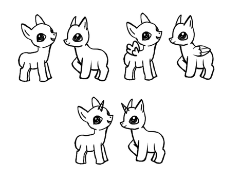 My Little Pony-Filly Bases by JainnyWeasley
