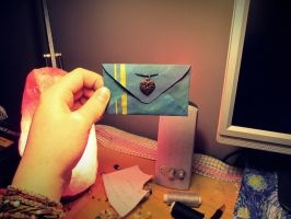 tiny handmade envelope by LaughterInTheWoods