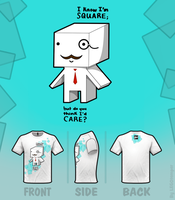 DARE to be SQUARE - shirt by skcolb