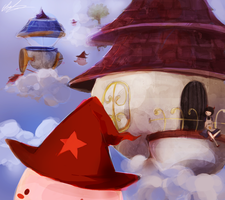 In The Clouds. Maplestory by Pochi-mochi