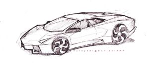 lamborghini uncoloured by kuroyobi