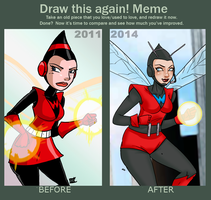 meme before and after 2011-2014 Wasp by theEyZmaster