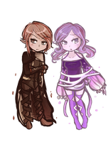Human: Naois and Maeve by Linkerbell