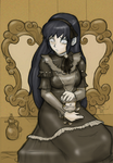 Hinata Gothic Lolita SKETCH by sykoeent