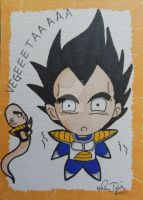 Attack of Chibi Ghost Nappa by LadyNin-Chan
