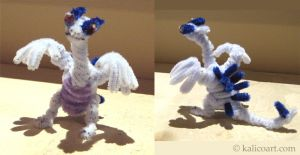 Lugia Pipe Cleaners by kalicothekat