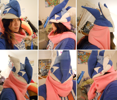 Greninja Hat with scarf by HarmoniousReprise