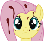 fluttershy (the rose of life) Face by j5a4