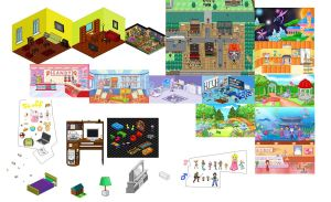 Pixel Dollhouse by kittykansworde