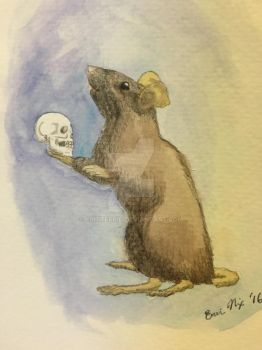 Hamouse and Yorick - Pencil and Watercolor by CritterKid