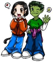 Dianna and Beast Boy--Request by ramhay