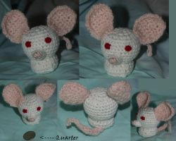 Amigurumi Mouse Sold by LilWolfStudios
