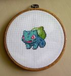 Bulbasaur cross stitch. by ElizabethParkin