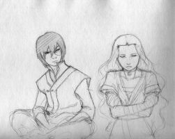 ATLA: Zuko and Katara by leegames