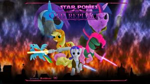Star Wars Pony Loading Screen by RydelFox