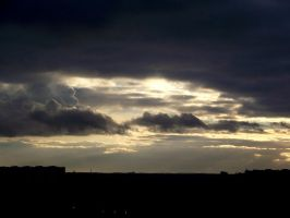 sun smiles through the clouds by mirbiggles