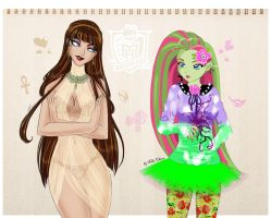 Monster High:Venus McFlytrap and Cleo by Niko-Chous