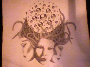 tri-headed gorgon goddess