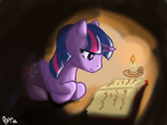 Candlelight Study by Pikkinon