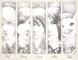Pencil Portraits :Boys: by Doria-Plume