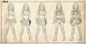 Talia Character designer by Adrianohq
