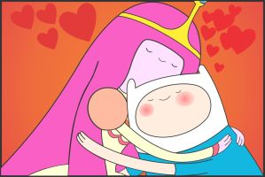 bubblegum princess and finn by Moyashi-Arts--Chico