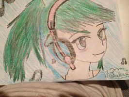 Girl with headphones MANGA STYLE (By Jade) by madnicsof