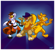 The dynamic trio by Greevixor