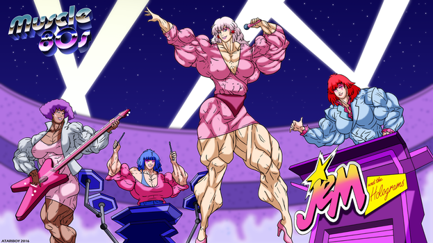 Muscle 80s - Jem And The Holograms. by Atariboy2600
