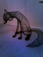 Fox sculpture wip6 by braindeadmystuff